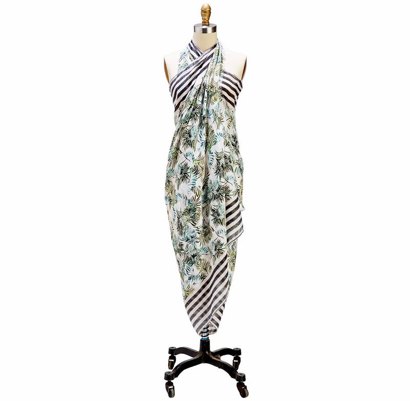 Leaf Print Scarf and Sarong - dolly mama boutique