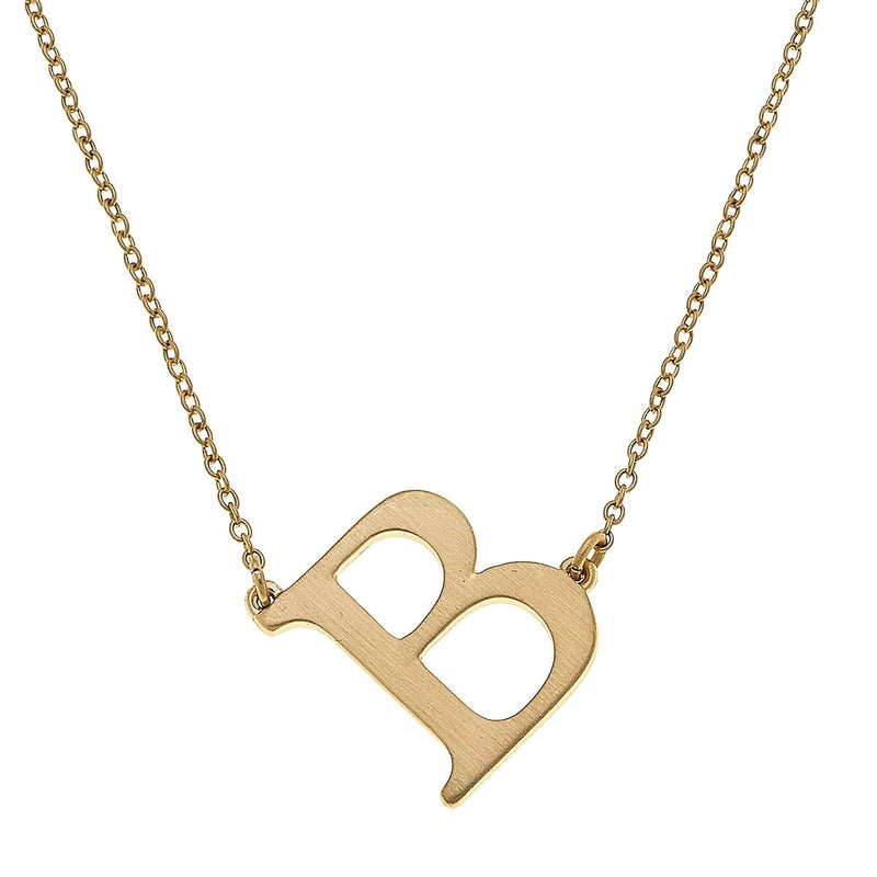 Claire Initial Necklace - dolly mama boutique