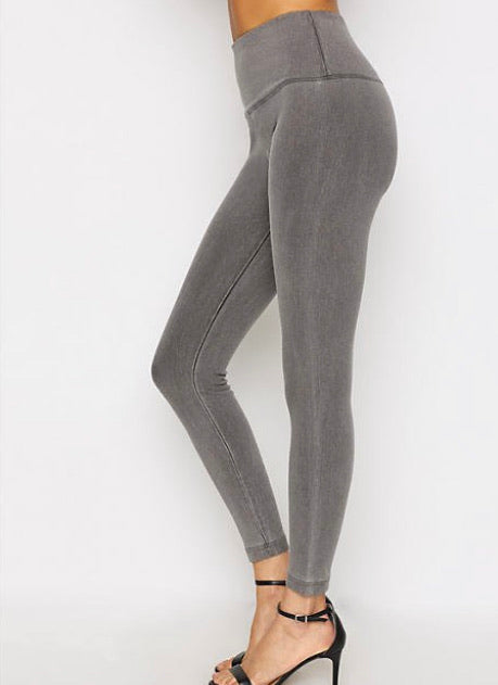 Lysse Denim Leggings - dolly mama boutique