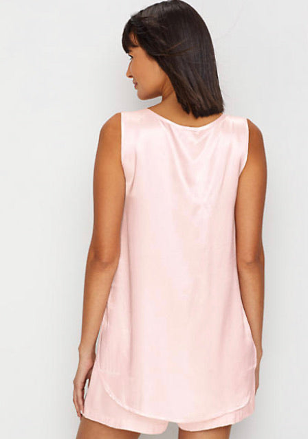 PJ Harlow Lounge Jackie Satin Cami in Blush - dolly mama boutique