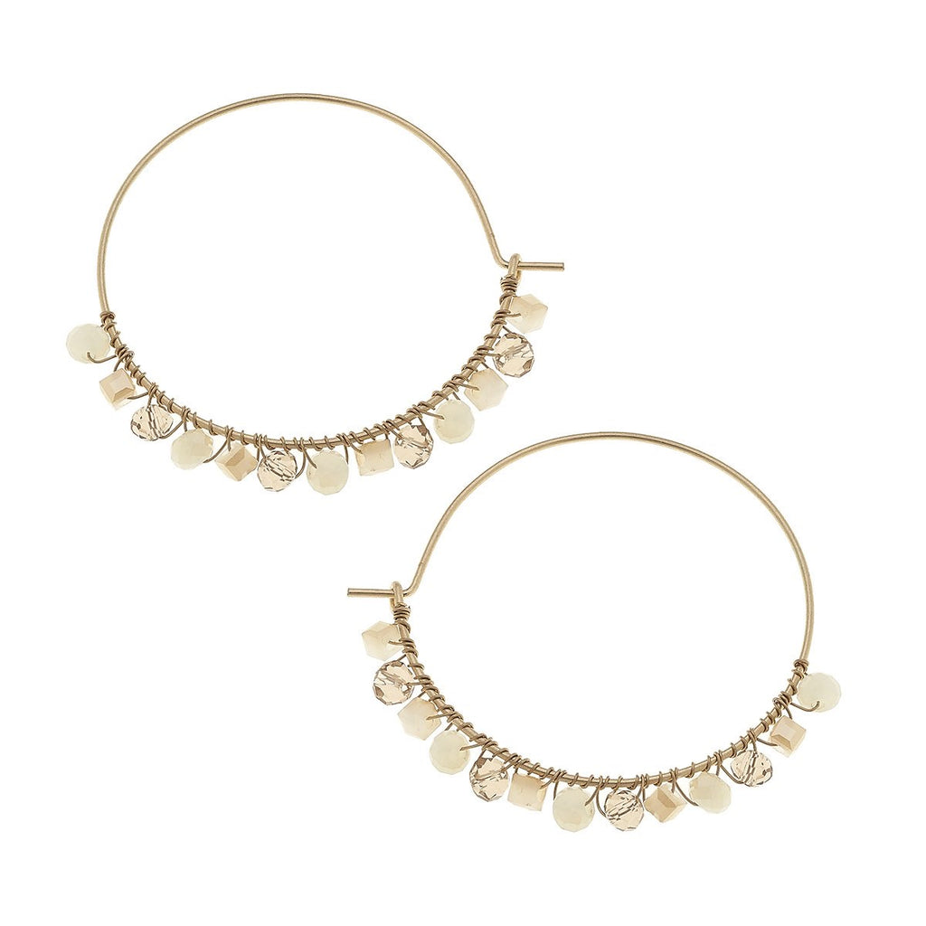 Coco Beaded Hoops - dolly mama boutique