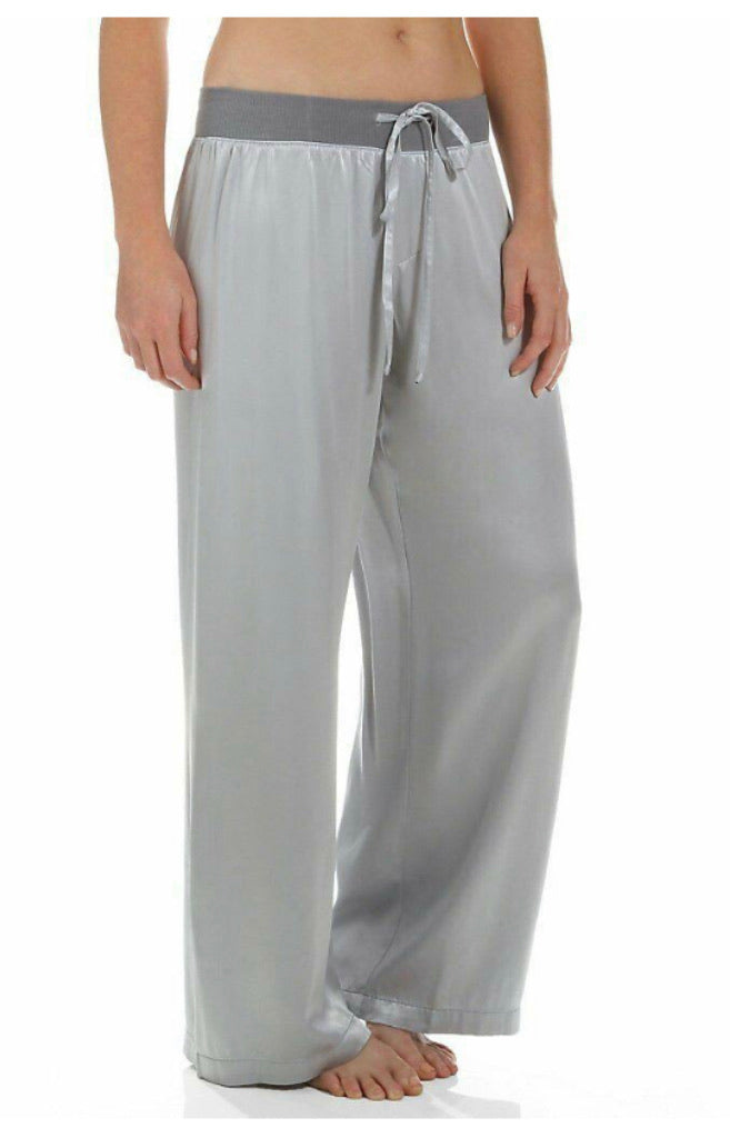 PJ Harlow Lounge Jolie Satin Pant in Dark Silver - dolly mama boutique