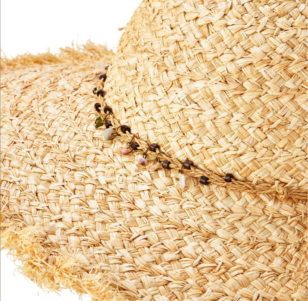 Raffia Wide Brim Hat - dolly mama boutique