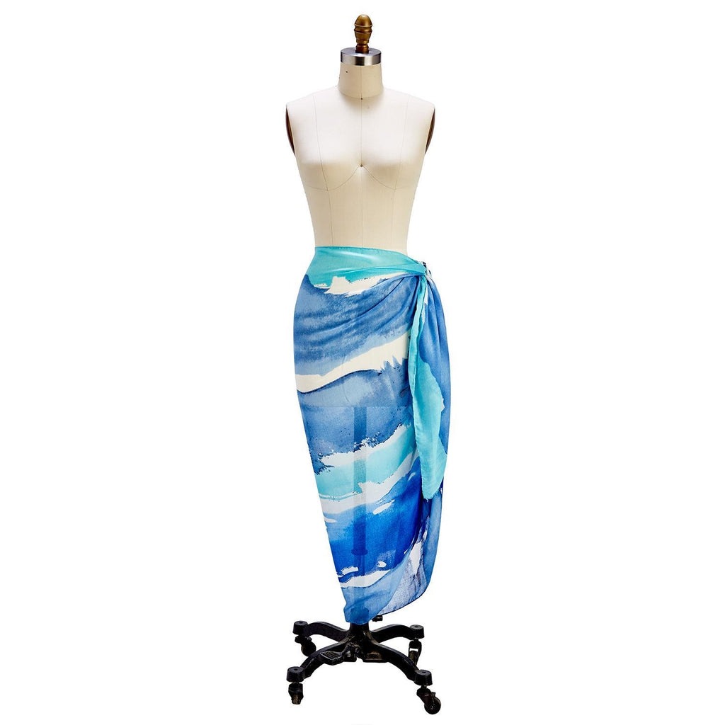 Watercolor Scarf or Sarong - dolly mama boutique