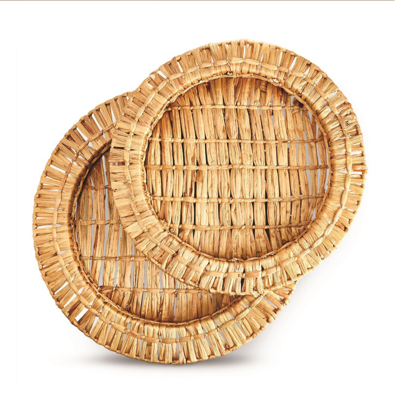 Water Hyacinth Trays - dolly mama boutique