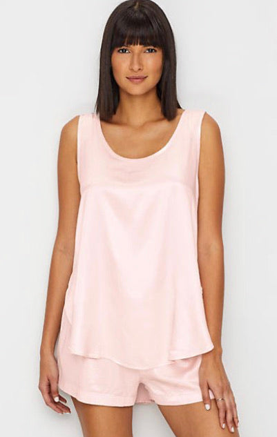 PJ Harlow Lounge Jackie Satin Cami in Blush