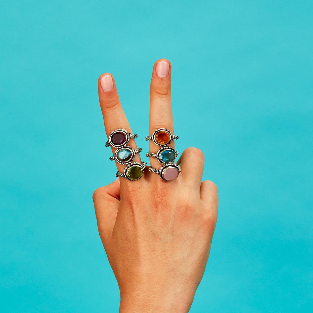 Silver Cable Rings - dolly mama boutique
