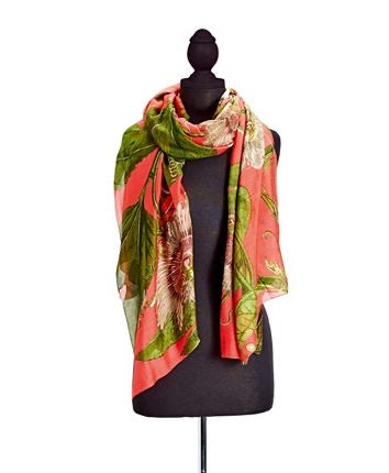 Coral Passion Scarf - dolly mama boutique