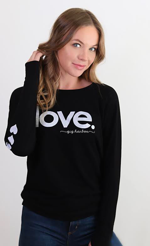 Love Gig Harbor Sweatshirt (Black or Gray) - dolly mama boutique