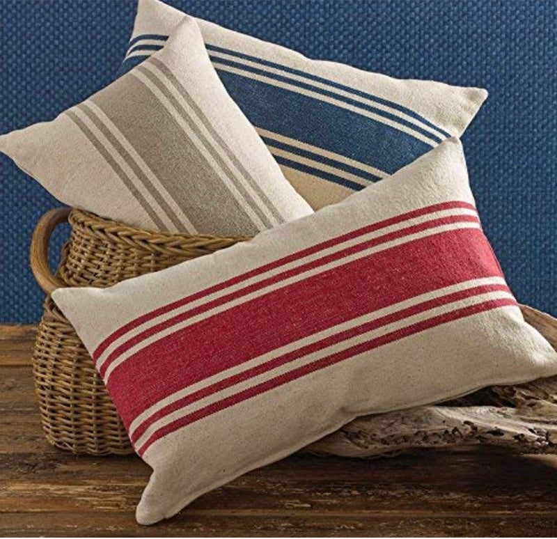 Split P Striped Pillow