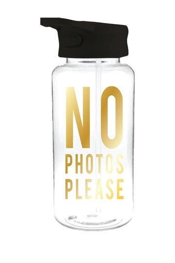 No Photos Please Water Bottle - dolly mama boutique