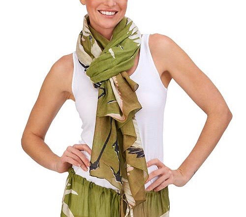 Heron Scarf - dolly mama boutique