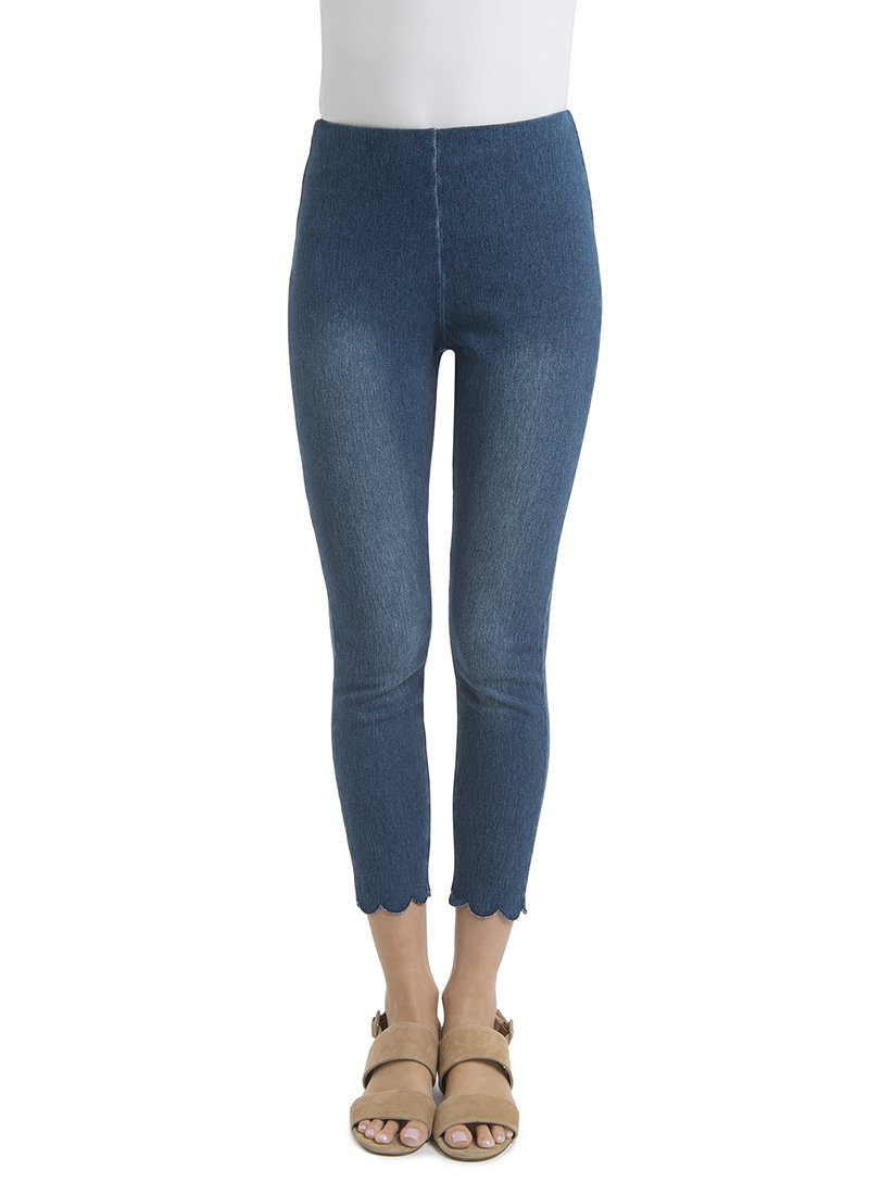 Lysse Scallop Edge Denim Jeggings