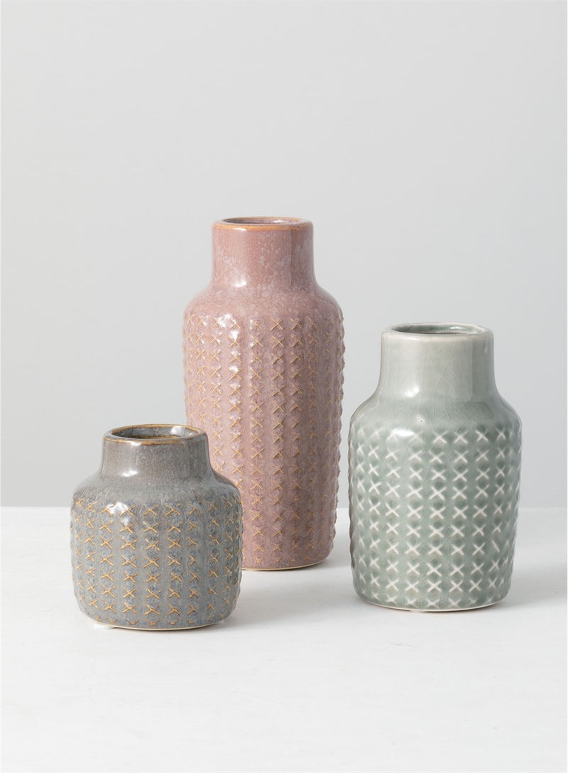 Sullivan's Patterned Vase - dolly mama boutique