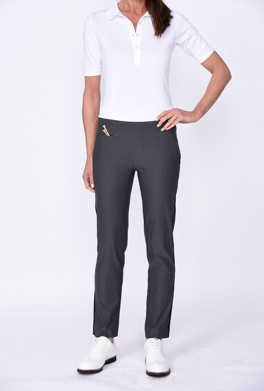 Grey Trophy Pull-On Stretch Twill Pant