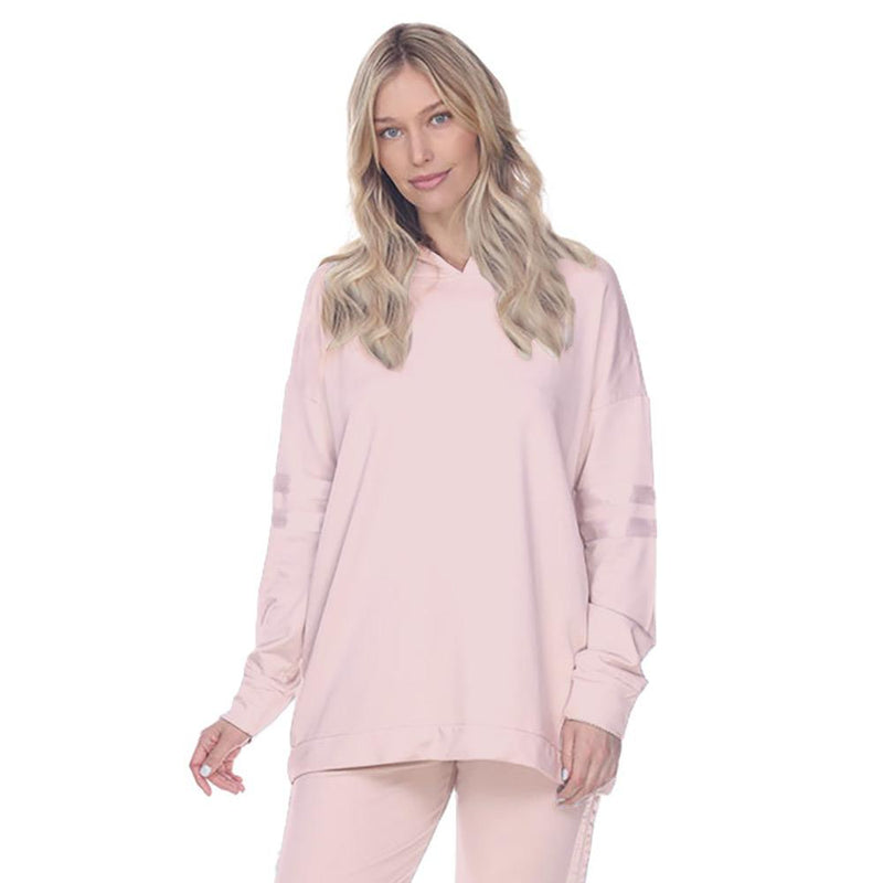 PJ Harlow Lounge Destiny Hoodie with Satin Decor - dolly mama boutique