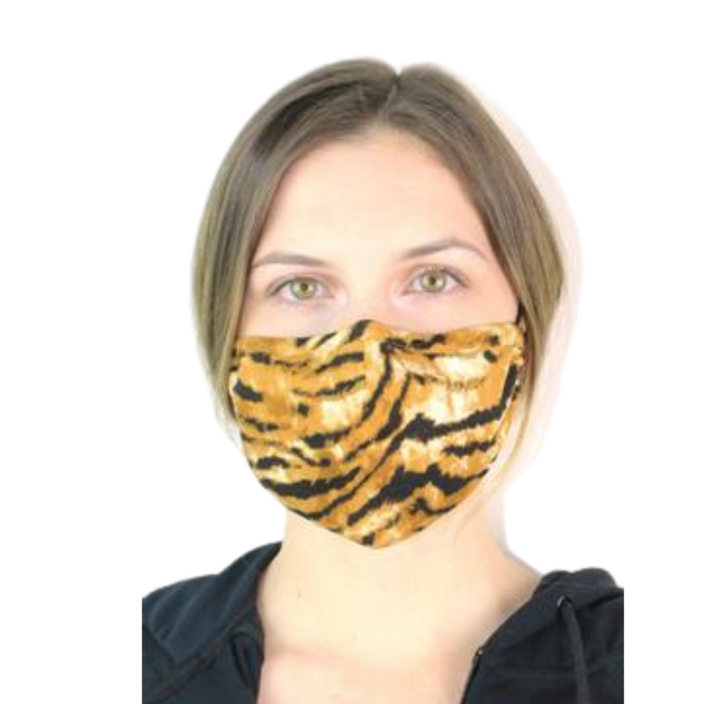 Face Masks - Animal Prints with Crystal Detail