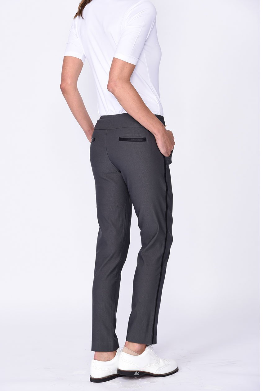 Grey Trophy Pull-On Stretch Twill Pant - dolly mama boutique