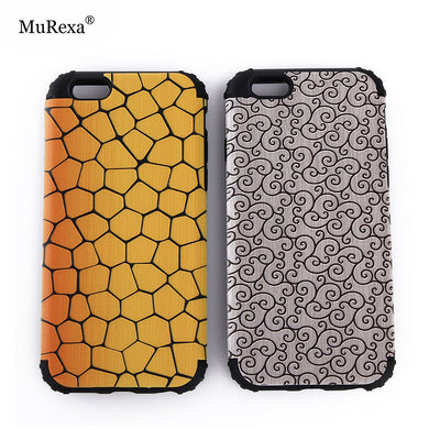 MuRexa 2 in 1 Shockproof Silicon Bumper Case Hard Back Cover for iPhone 5S 6S Plus 7 Plus with Metal Sheets for Magnetic Holding