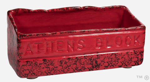 Athens Block Letter Holder (Blackened Red)