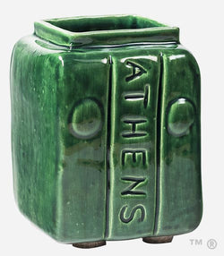 Athens Block Short Vase (Bobcat Green)