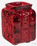 Athens Block Short Vase (Blackened Red)