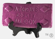Athens County Block Tile - Mauve