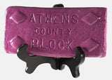 Athens Block Decorative Tile Red/Black