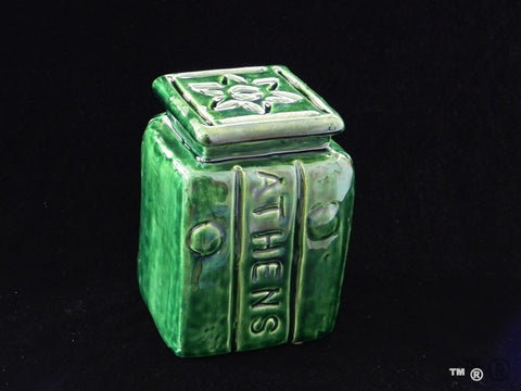 Athens Block Jar with Starbrick Lid