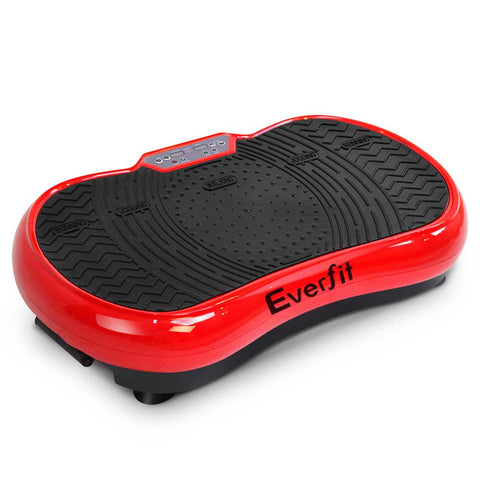 1000W EverFit Ultra Slim Whole Body Vibration Platform Fitness Machine - Red