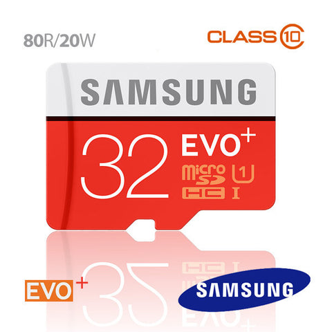 Samsung EVO PLUS 32GB Micro SD Memory Card 80R/20W MB-MC32D