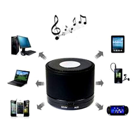 Mini Bluetooth Speaker Wireless Portable Stereo for iPhone Mobile MP3 Black