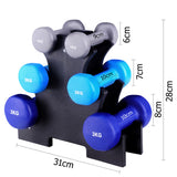 Everfit 6 Piece 12kg Dumbbell Weights Set with Stand