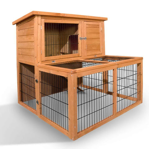Deluxe Rabbit Cage Hutch w/ Under-Run