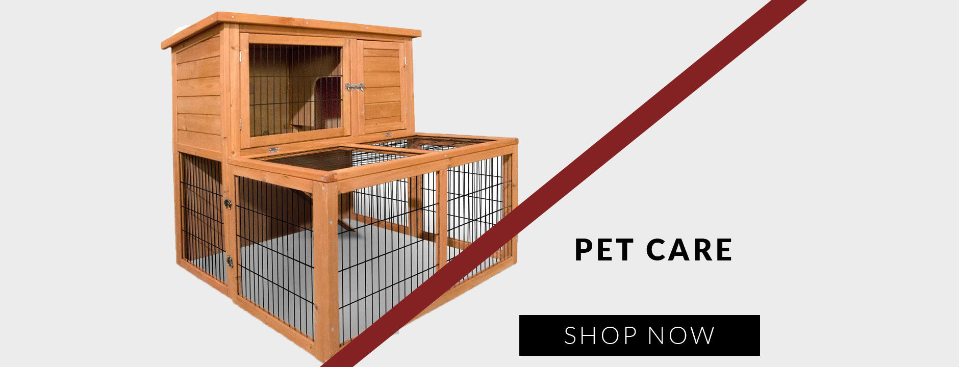 DDeluxe Rabbit Cage Hutch with Under-Run
