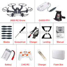 Free Shipping MJX X800 2.4G 4CH 6-Axis UAV Quadcopter RTF Drone RC Helicopter Can Add C4005 WIFI FPV Camera & C4002 VS H20 H107D