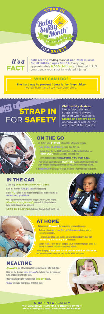 Baby Safety Month JPMA September 17 Strap In For Safety