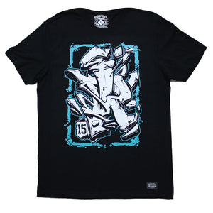 Graffiti Blue Tee