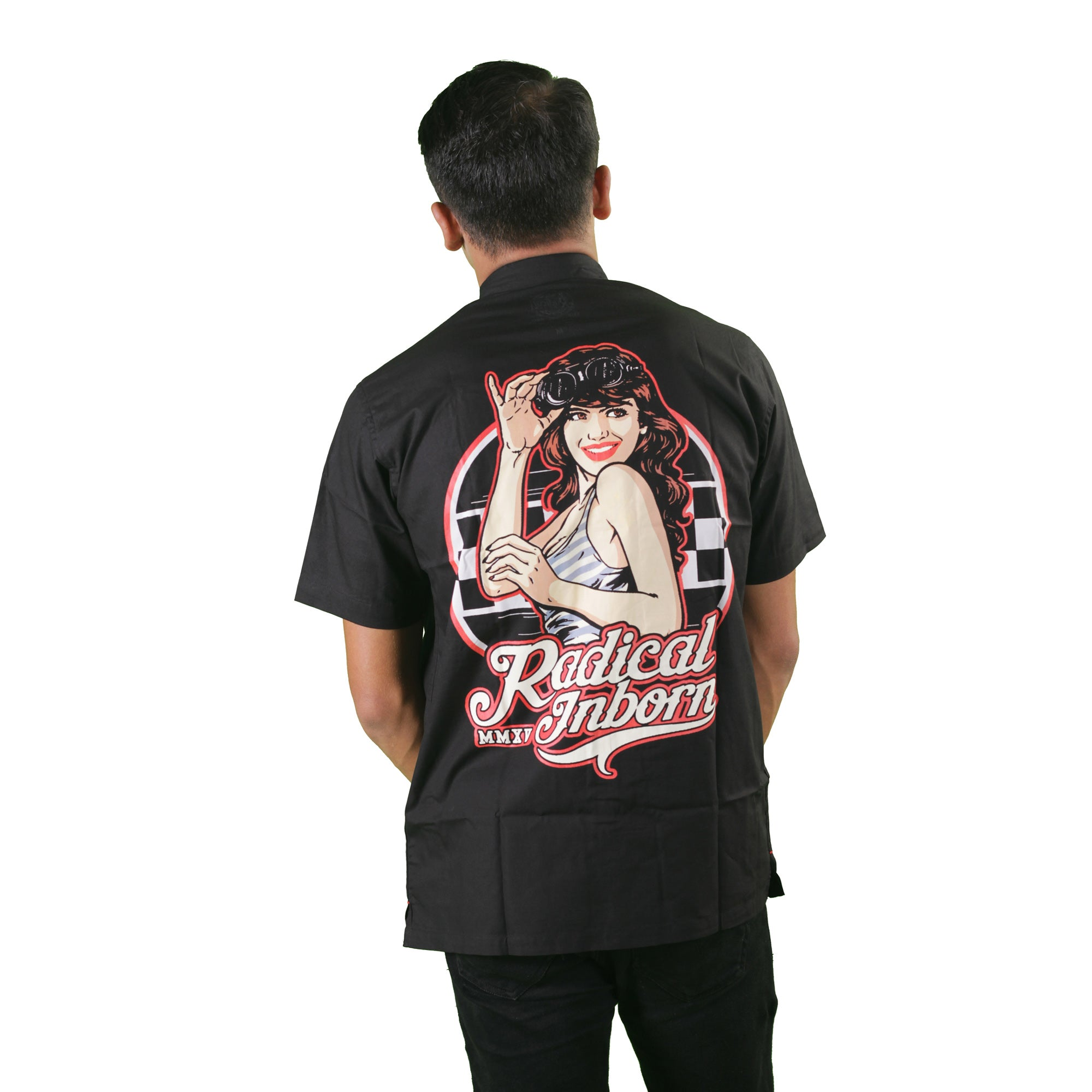 Vintage Girl Mechanic Shirt