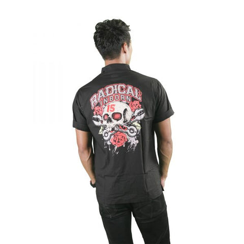 Skull and Roses Mechanic Shirt