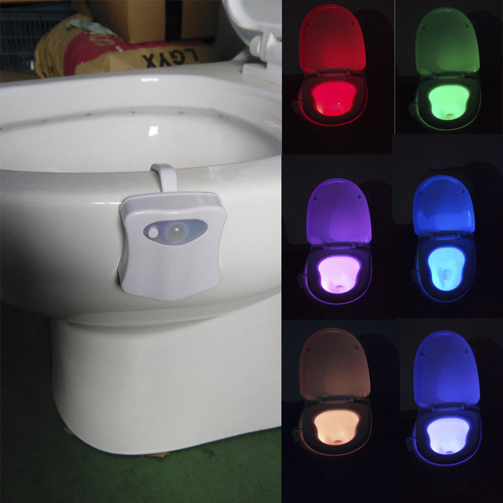 Motion Activated 6 Color LED Toilet Nightlight