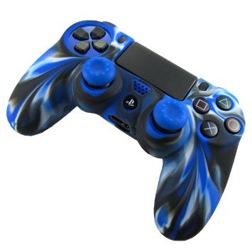 Silicone Controller Grip Case + 2 Stick Grips for PS4