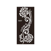 Rose Flower Henna Tattoo Stencils 8 Pieces