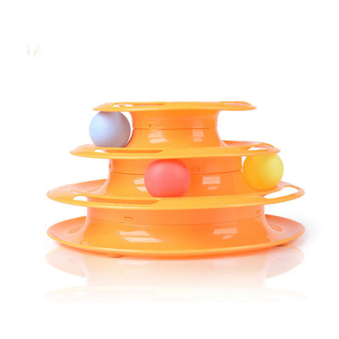 Most Entertaining Three Level Tower Cat Toy