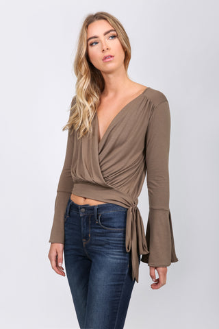Crossover Side Tie Top