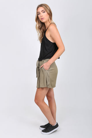 Square-back Crop Tank