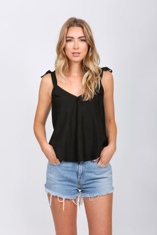 Tie Up V Neck Tank