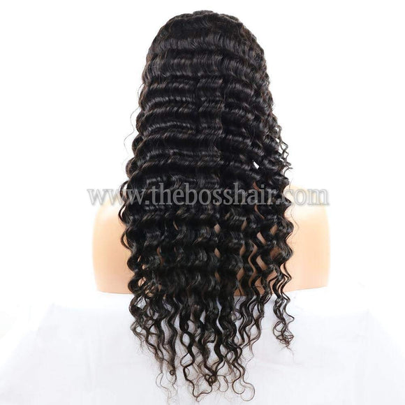 "PLATINUM GRADE HAIR 13X6 Frontal Lace Wig 24"" Deep Wave 150% Density"