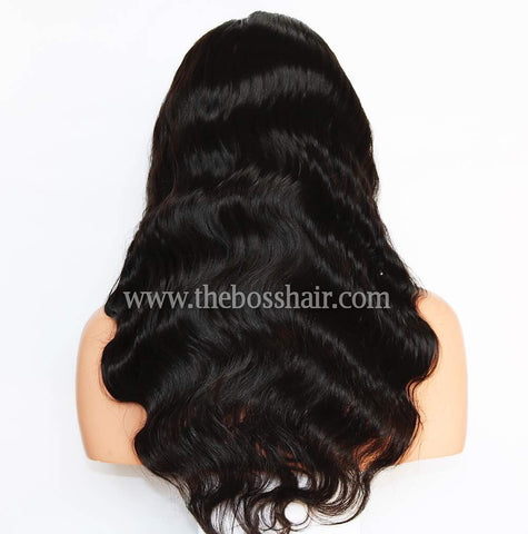 "PLATINUM GRADE HAIR 13x6 Frontal Lace Wig 24"" Body Wave 150% Density"