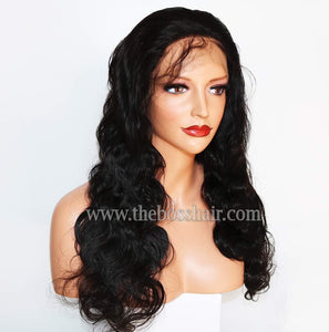 "20"" Front Lace Closed Cap - Body Wave 150% Density"